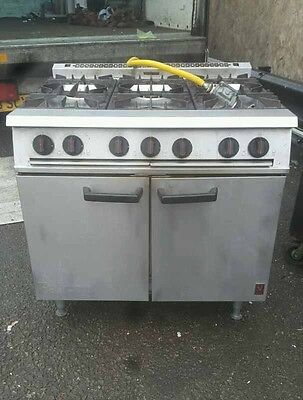 Falcon 6 burner gas cooker range with oven