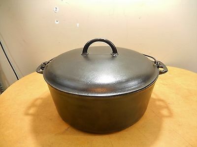 Griswold # 10 Large Logo Dutch Oven And Lid Cast Iron