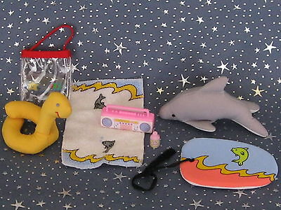 """Madeline 8"""" doll Eden/LearningCurve BEACH SWIMMING ACCESSORY PLAY Set"""