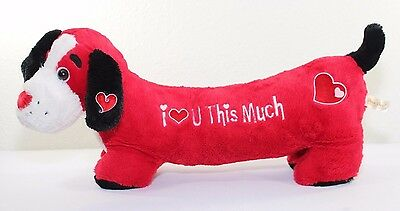 """Dan Dee Collectors Choice 24"""" Dog Plush Red I Love You This Much FAST SHIPPING"""
