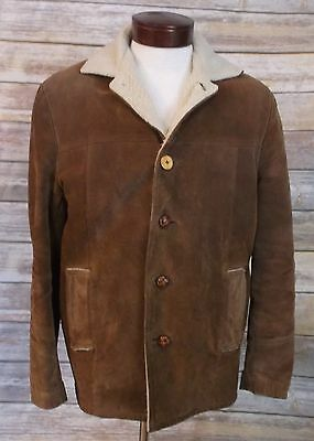 PENNEY'S SPORTS OUTERWEAR VINTAGE 1950-60s BROWN SUEDE WESTERN JACKET COAT SZ40