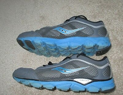 Saucony Virrata Boys 7 M Black Blue Gray Running Shoe Sneaker SY46807 Pre-Owned