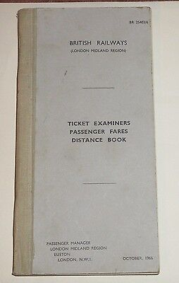 Old Stationary Br (Lmr) Ticket Examiners Passengers Fares Distance Book 1966 Hbk