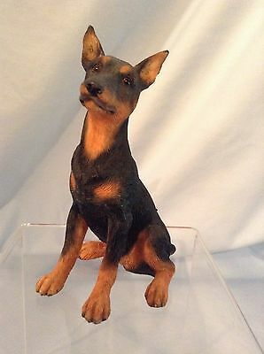 """Country Artists Dogs  Doberman Puppy Resin Figurine 03751 3.75"""" with box $10.99"""