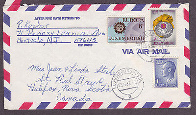 Luxembourg postal history 1967 airmail