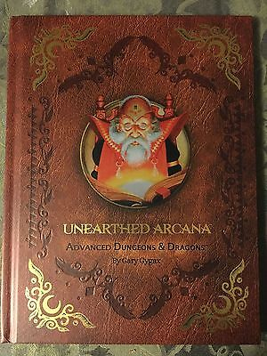 ADVANCED DUNGEONS AND DRAGONS Unearthed Arcana Premium 1st ed reprint