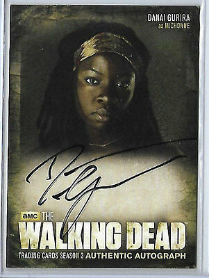 The Walking Dead Season 3 Part 1 Danai Gurira as Michonne Autograph Card Auto A8