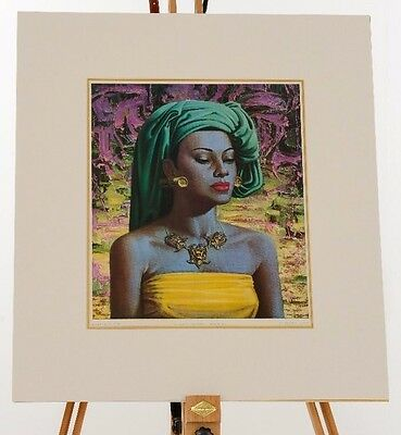 Original Vladimir Tretchikoff Balinese Girl 1950's print in perfect condition