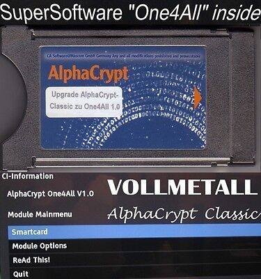 CI Modul VOLLMETALL AlphaCrypt Classic One4All 1.0 HD+ HD01 HD02 ORF One for All