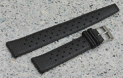 Great price 19mm Tropic strap type vintage divers watch band 2 keepers +100 sold
