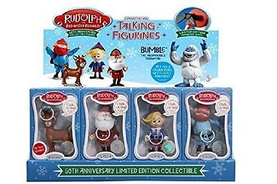 Rudolph The Red-Nosed Reindeer 50th Anniversary Talking Figurines 1 SET