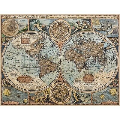 World of 1626 Giclee Print on Canvas with Wood Frame Decor New