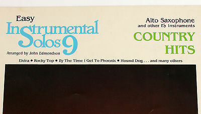 1983 Alto Saxophone Country Hits Song Book Easy Instrumental Solos 9 Hal Leonard