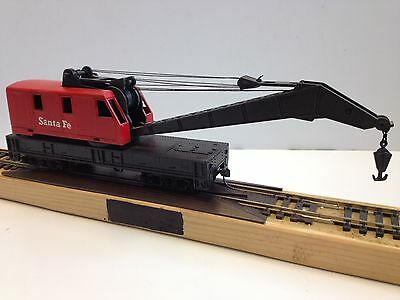 Tyco #932:800 Operating Crane Car Santa Fe - Ho Scale