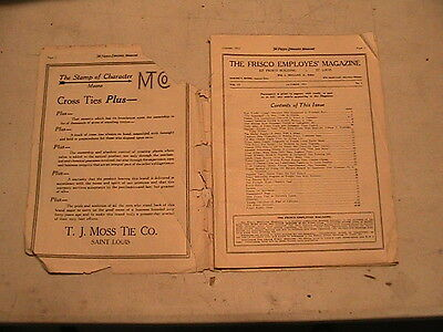 VINTAGE FRISCO RR ITEMS IN PACKET # 7 Oct 1925 FRISCO EMPLOYEE'S MAG