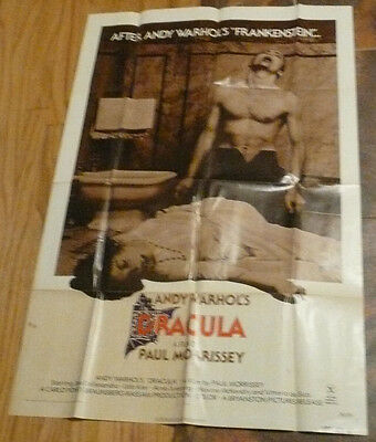 Andy Warhol's Dracula Rare Original US One Sheet Rated X Movie Poster Udo Kier