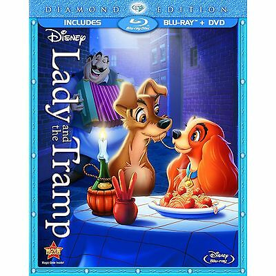 Lady and the Tramp (Blu-ray/DVD, 2012, 2-Disc Set, Diamond Edition)**BRAND NEW**