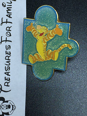 Disney Pin DLP Paris Glitter Puzzle Piece Tigger FREE SHIP