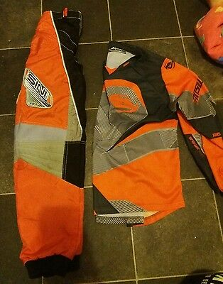 youth motocross trousers 26 inch and jersey top