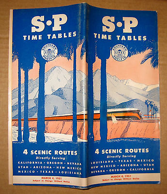 Set of 3 Southern Pacific Timetables 1951