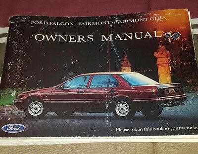 Ford Falcon Fairmont Ghia Owners Manual Used