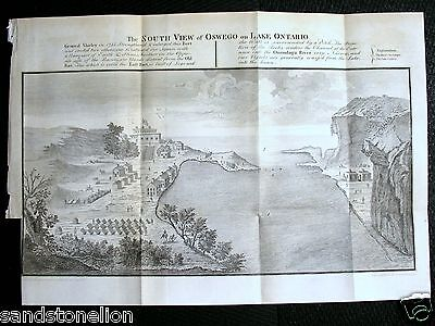 1700's Antique Map OSWEGO & LAKE ONTARIO CANADA GAVIT & DUTHIE Albany NY