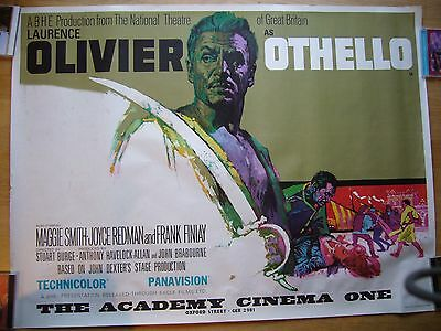 Othello - Laurence Olivier -  Original Quad Poster