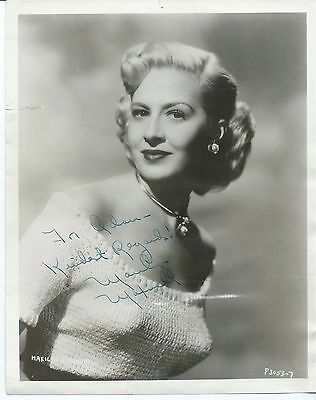 """MARILYN MAXWELL Hand Signed Autographed 8x10"""" Photo w/COA"""