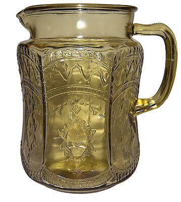 Federal Patrician Amber Large Pitcher / Jug