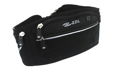 b2ab6acf332 ZOL Sport and Travel Fashion Deluxe Leather Fanny Pack Men Women Waist Bag
