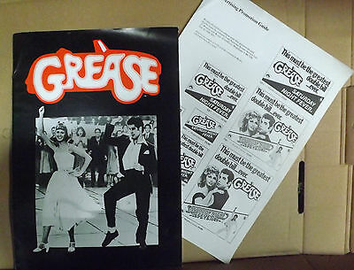 Grease 6 page  cast, crew, synopsis & publicity - RARE!