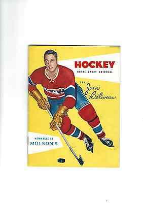 Hockey Notre Sport National By Jean Beliveau