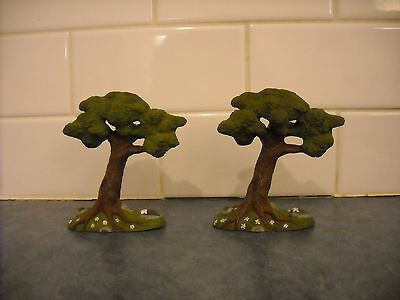 Lot Breyer Stablemate Summer Green Trees Play Set Mini Doll House Farm Forest