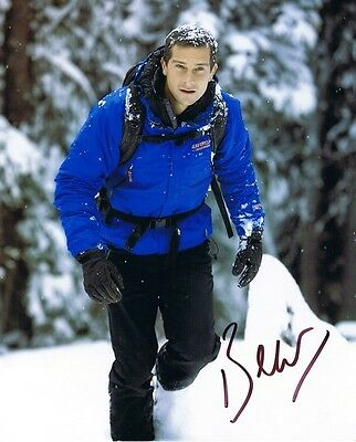 EDWARD BEAR GRYLLS - Signed colour photograph