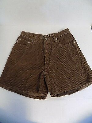 Vintage Bongo Corduroy Shorts Brown High Waist 1980s-1990s Juniors Size 9