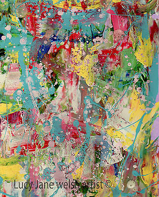 Abstract painting - prints from original painting work - inspired by Pollock art
