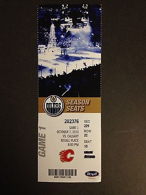 Taylor Hall Edmonton Oilers 1st NHL Game Ticket New Jersey Devils