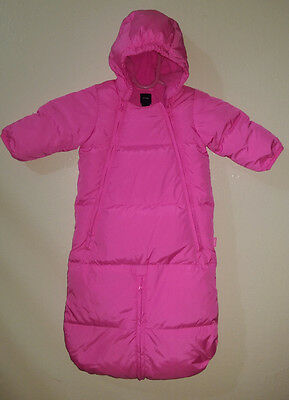 babyGap Down Fill Convertible Snowsuit or Bag with Hand Covers 0-3M