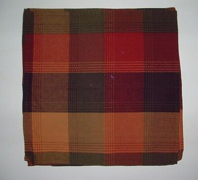 """Set of 4 pretty napkins/placemats 16"""" square in Brown & maroon tones"""