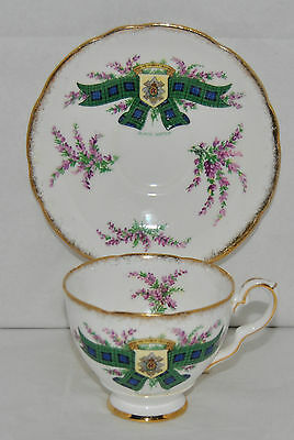 "Royal Stafford TARTAN SERIES ""Black Watch"", Fine Bone China Tea Cup and Saucer"