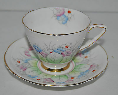 Outstanding Vintage Royal Stafford Bone China Tea Cup and Saucer