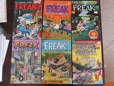The Fabulous Furry Freak Brothers #1-6 original printing VF condition! RARE!