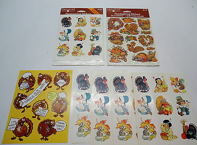 Vintage HAPPY THANKSGIVING American Greetings Stickers and Labels