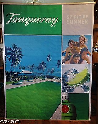 "UNUSED Tanqueray Gin Banner ""SPIRIT OF SUMMER"" 60 X 44"" BAR Advertising Flag"