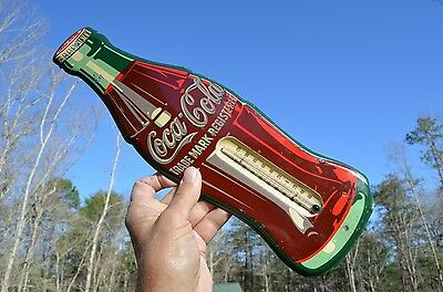 VINTAGE 50's COCA COLA SODA DRINK THERMOMETER GOOD DISPLAY CONDITION COLLECTABLE