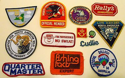 Lot of Fishing Related Embroidered Patches Smokey  Fishing Facts Wild Sheep club