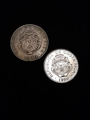 Lot of 2 Costa Rican Coins