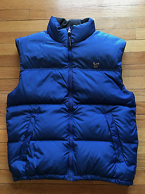 AMERICAN EAGLE | DOWN Feather PUFFER Ski VEST | Blue | Mens Size M
