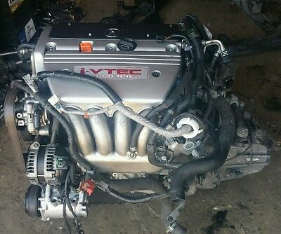 07 08 Acura Tsx K24A2 Engine 2.4L Complete Engine & 6 Speed Manual Transmission