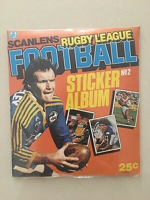 1984 Scanlens Sticker Album With Full Set Of Unpeeled Set**SPECIAL PRICE**
